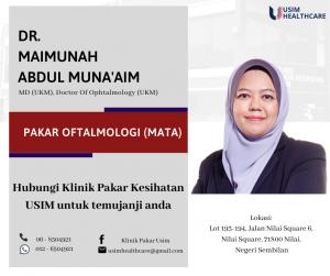 DR MAIMUNAH MUNAAIM